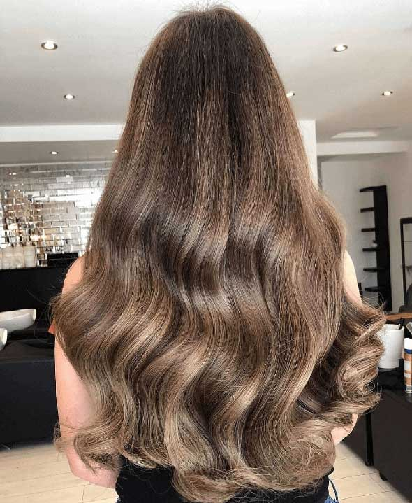 Example of hair extension at Glow Saltash