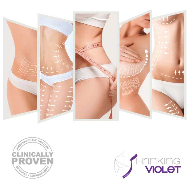 Image of the shrinking violet body wrap procedure